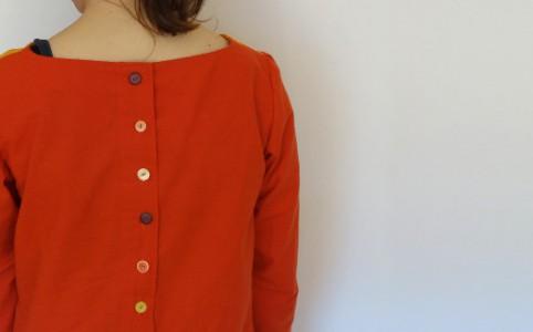 Button Back Blouse | milchmädchen.