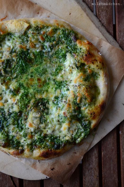 Spring Cream Pizza | milchmädchen.