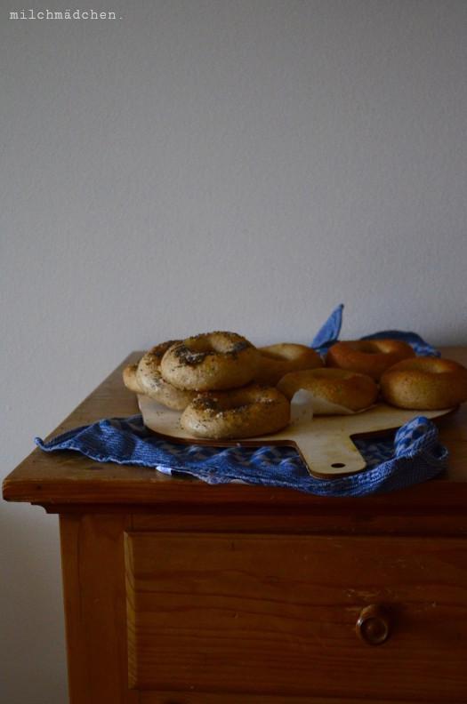 How to bagel: Bagel mit Mehlkochstück über Nacht
