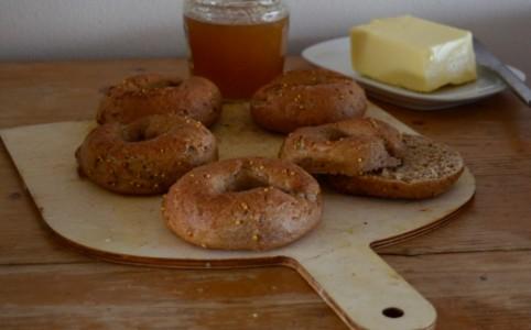 Multigrain Sourdough Bagels | milchmädchen.