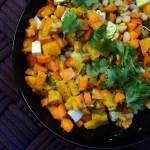 Gebackener Kürbis-Süßkartoffel-Salat mit Hirse | milchmädchen.