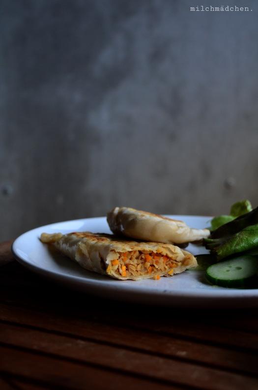 Dàdòu ròu xiàn bǐng – Sohjafleisch-Pastetchen | milchmädchen.