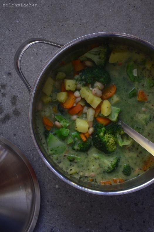 Gemüse-Bohnen-Eintopf | milchmädchen.