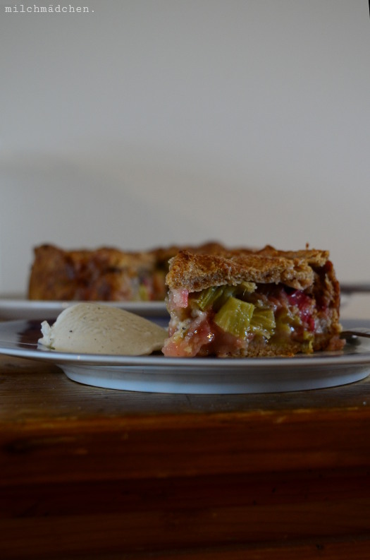 Rhabarber Pie | milchmädchen.