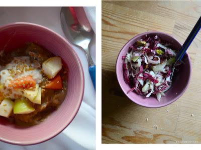 Essen, die der Zufall kocht: Øllebrød & Radicchio-Fenchel-Salat mit Käse und Pistazien