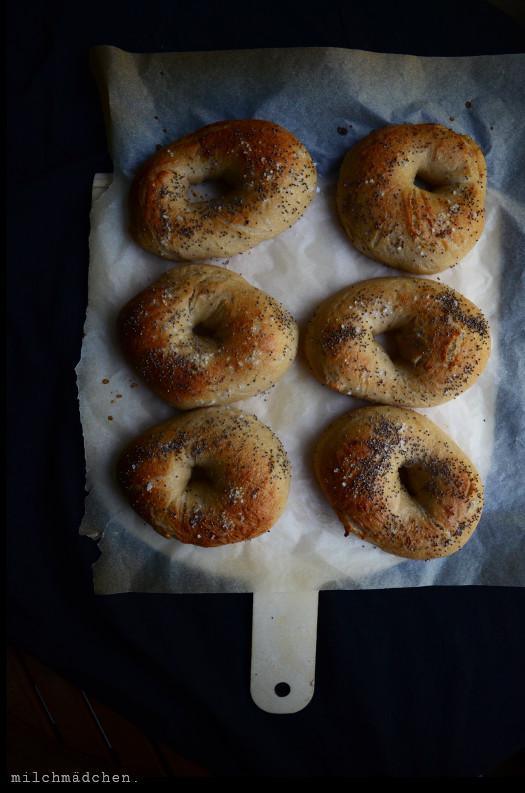 Sea Salt & Poppy Seed Bagels | milchmädchen.