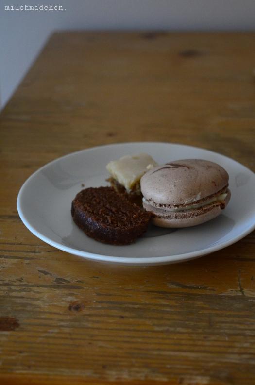 Schokoladenmacarons, Alpenbrot, Zitrusschnitten | milchmädchen.