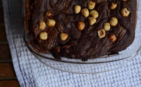 Brownies mit Sauerteig und Haselnusspraliné   milchmädchen.