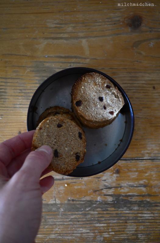 Frühstückskekse mit Sauerteig   milchmädchen.