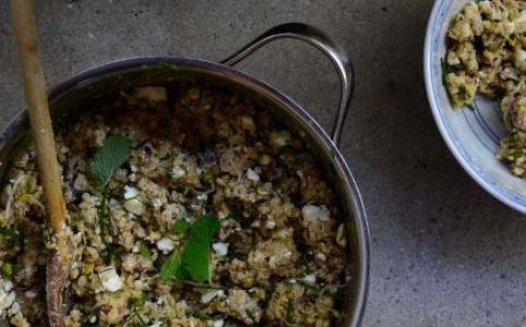 Hirsesalat mit Feta, Pistazien und Würzdressing   milchmädchen.