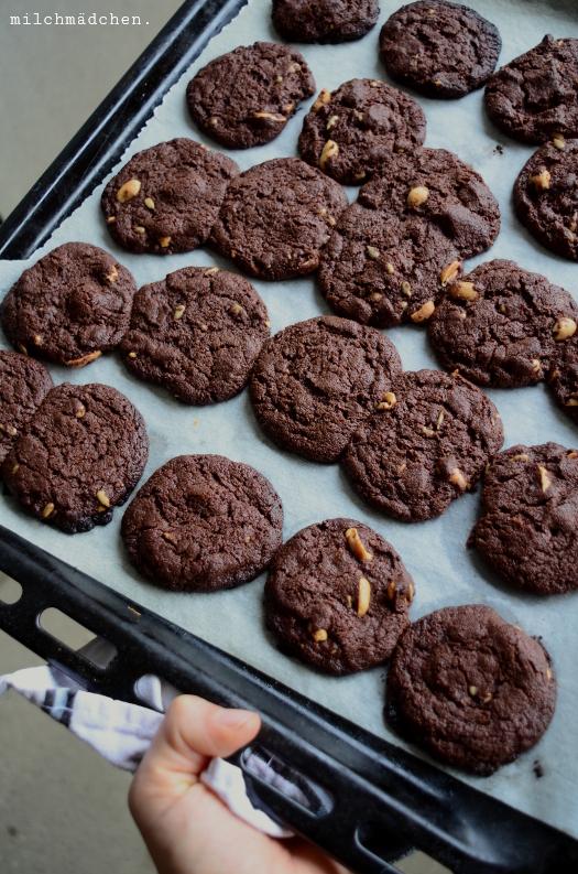 Sauerteig-Schoko-Cookies | milchmädchen.